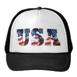 RETRO AMERICAN TRUCKER HAT - 3D USA Patriotic Cap