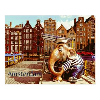 Retro Amsterdam Postcard