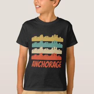 Retro Anchorage AK Skyline Pop Art T-Shirt