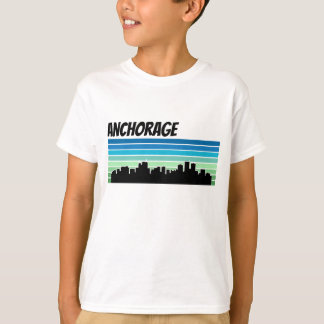 Retro Anchorage Skyline T-Shirt