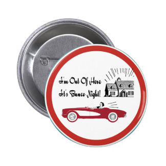 Retro and Vintage Bunco Red Convertible Pinback Buttons