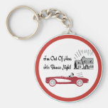 Retro and Vintage Bunco Red Convertible Key Chain