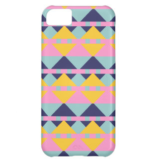 Retro and Vintage Triangle and Square Pattern Case For iPhone 5C