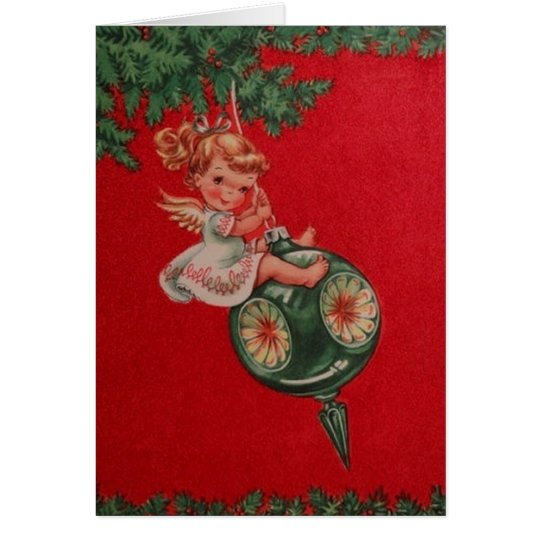 Retro Angel Christmas Greeting Card