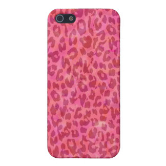 Retro animal print texture of leopard iPhone 5/5S cover