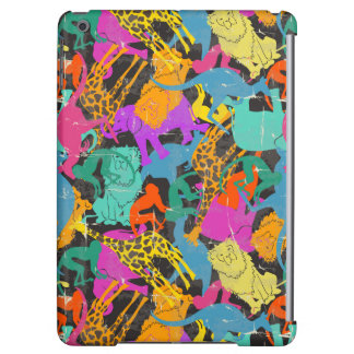 Retro Animal Silhouettes Pattern Cover For iPad Air