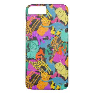 Retro Animal Silhouettes Pattern iPhone 7 Plus Case