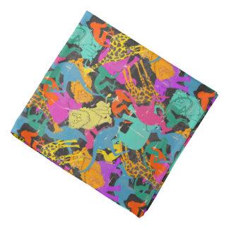 Retro Animal Silhouettes Pattern Kerchiefs