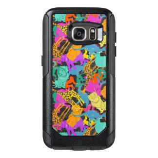 Retro Animal Silhouettes Pattern OtterBox Samsung Galaxy S7 Case