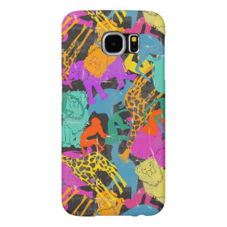 Retro Animal Silhouettes Pattern Samsung Galaxy S6 Cases