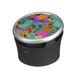 Retro Animal Silhouettes Pattern Speaker