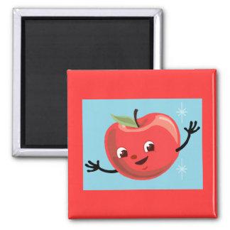 Retro Apple Guy Square Magnet