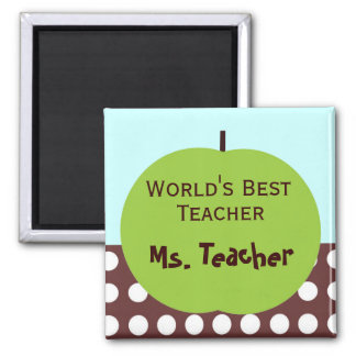 Retro Apple Persoanlized Teacher Gifts Magnet