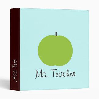 Retro Apple Personalized Teacher Binder