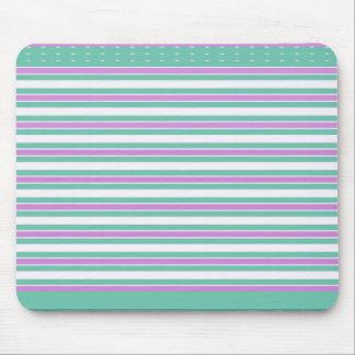 Retro-Aqua-Pink-Stripes-Dots_Mod Mouse Pad