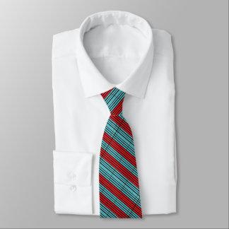 Retro Aqua/Red  Design Tie