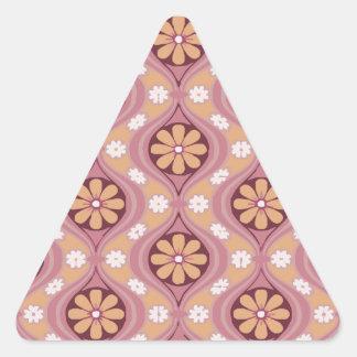Retro Arabesque Triangle Sticker