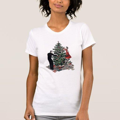 Rétro arbre de Noël T-shirt