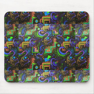 Retro Arcade Carpet Design Mousepad