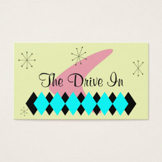 Retro Argyle Mid Century Modern Business Card