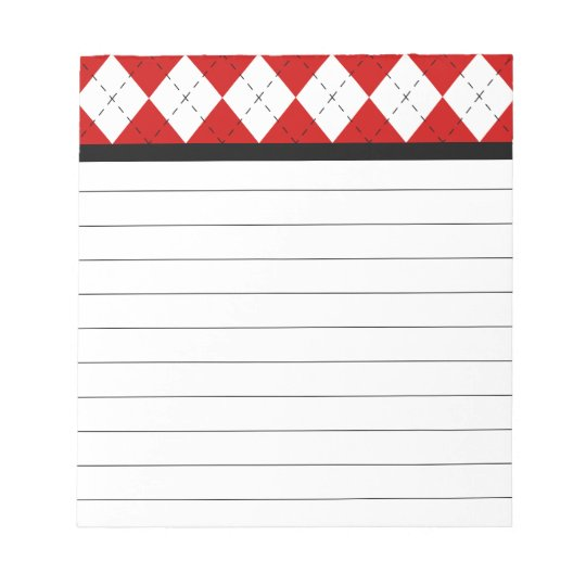 Retro Argyle Notepad