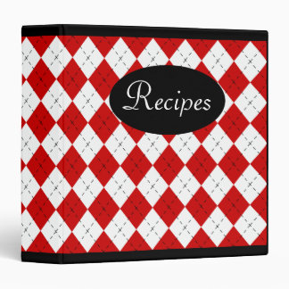 Retro Argyle Recipe Binder