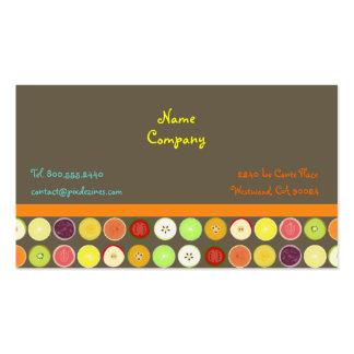 Rétro arrière - plan d ashbrown de de jus de fru cartes de visite professionnelles