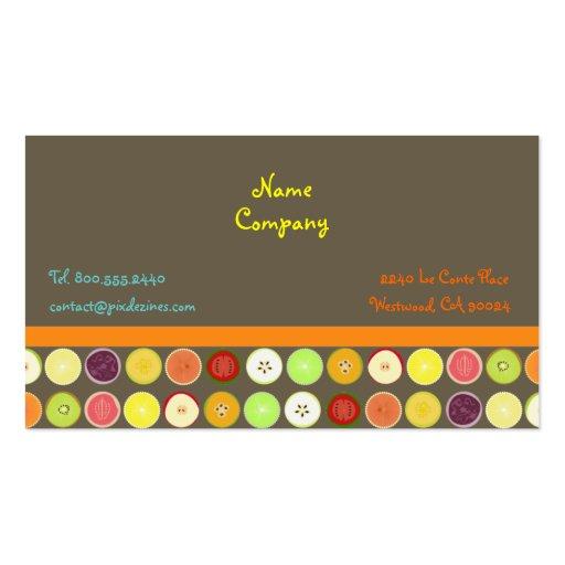 Rétro arrière - plan d'ashbrown de ~ de jus de fru cartes de visite professionnelles