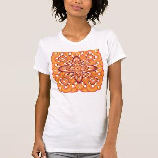 Rétro art abstrait floral orange vintage tshirts