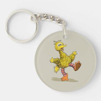 Retro Art Big Bird Keychain