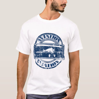 Rétro art d'aviation t-shirt