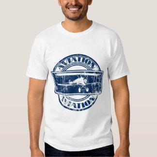 Rétro art d'aviation tee shirts