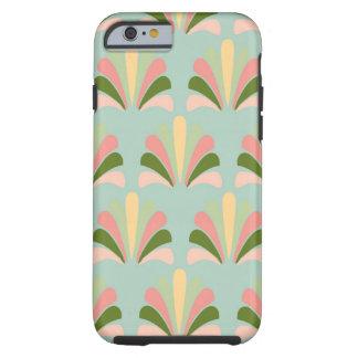 Retro Art Deco Green Pink Tough iPhone 6 Case
