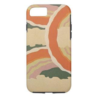 Retro Art Deco Jazz Circles Clouds Rainbow Pattern iPhone 7 Case