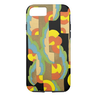 Retro Art Deco Jazz Circles Clouds Rainbow Pattern iPhone 7 Case