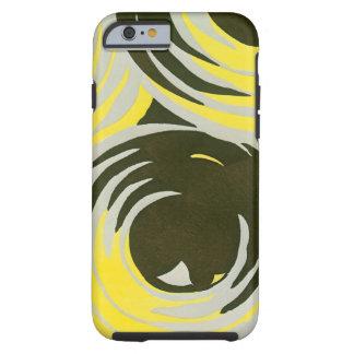 Retro Art Deco Jazz Vintage Circles Swirls Pattern Tough iPhone 6 Case