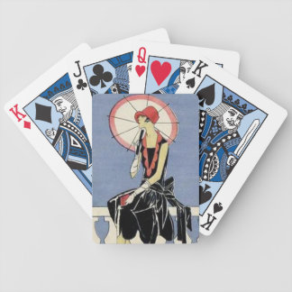 Retro Art Deco Lady Playing Cards