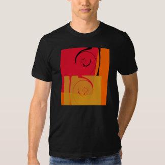 Rétro art déco rose, orange, jaune, noir t shirts