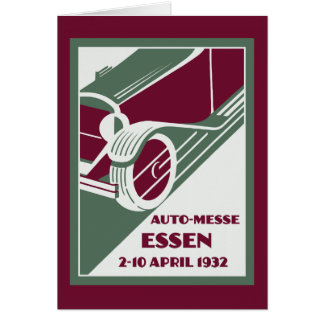 Retro Art Deco style 1930s remake car show Greeting Card