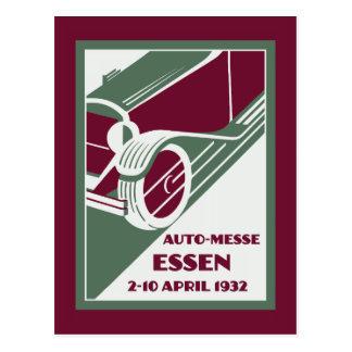 Retro Art Deco style 1930s remake car show Postcard