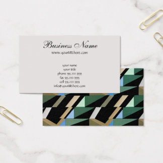 Retro Art Deco Vintage Diamond Triangle Patterns Business Card