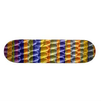 Retro art stripes graphic design skate deck