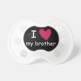 Retro Artsy I Love My Brother Pacifier