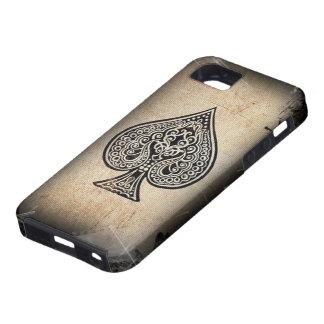 Rétro as de pique artistique grunge frais de tison étuis iPhone 5