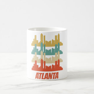 Retro Atlanta GA Skyline Pop Art Coffee Mug