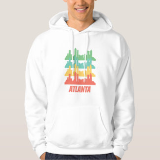 Retro Atlanta GA Skyline Pop Art Hoodie