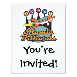 retro atomic billiards sign custom invitations