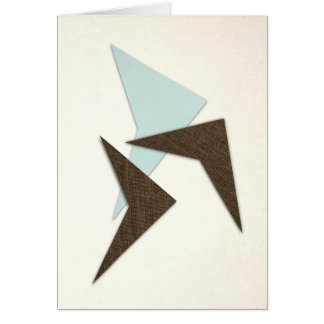 Retro Atomic Boomerang Card