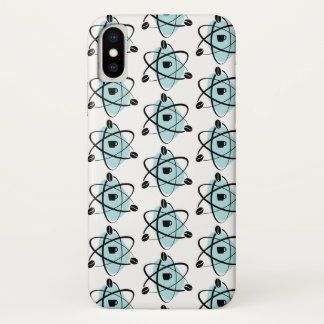 Retro Atomic Coffee Beans iPhone Cases (Teal)