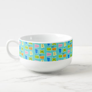 Retro Atomic Kitsch Acrylic Soup Mug